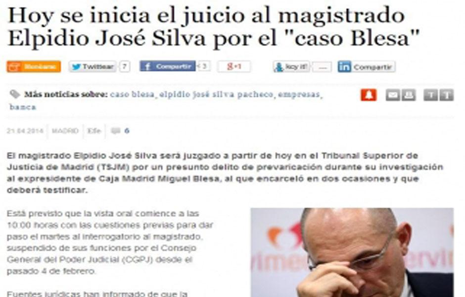 Hoy se inicia el juicio al magistrado elpidio jos silva for Juicio clausula suelo