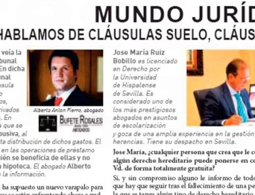 Bufete Rosales en ABC Empresa, 25 junio 2017. Páginas 30-31